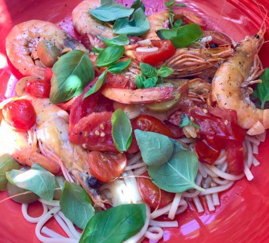 Australian king prawns Pasta